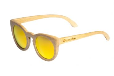 Gafas de sol de madera Natural bamboo & Orange lens