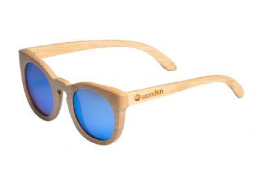 59d17806b1 Gafas de sol de madera Natural bamboo & Blue lens