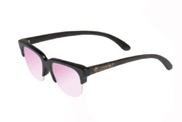 Gafas de sol de madera painted bamboo & light pink lenses