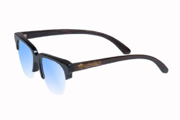 Gafas de sol de madera painted bamboo & clearly blue
