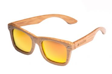 Gafas de sol de madera Natural Carbonized de Bambú  & Orange lens