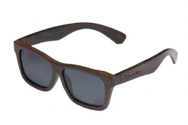 Gafas de sol de madera Natural Painted de ebony  & Black lens